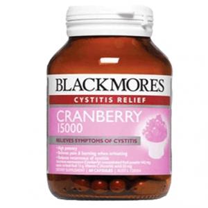 Viên uống trị nhiễm trùng đường tiết niệu, viêm bàng quang Blackmores Cranberry - 60 viên