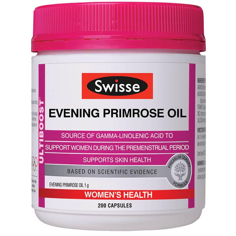Viên uống Tinh Dầu Hoa Anh Thảo Swisse Evening Primrose Oil - 200 viên