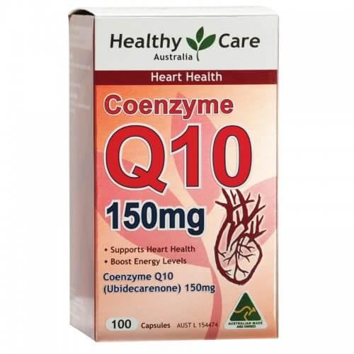 Chống lão hóa, bổ tim mạch Healthy Care Coenzyme Q10 150mg 100 viên