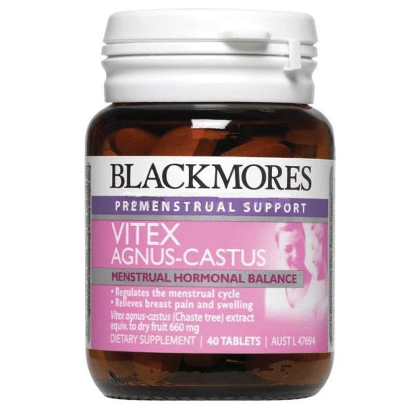Viên uống cân bằng nội tiết nữ Blackmores Vitex Angus Castus 40 viên