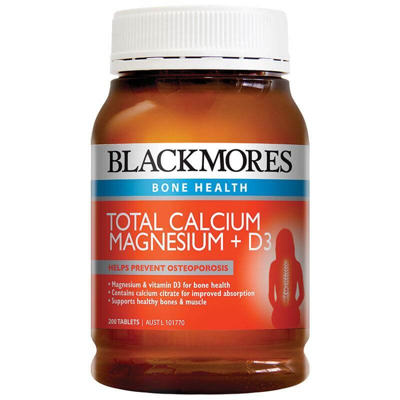 thuốc Blackmores Total Calcium & Magnesium + D3 200 Tablets