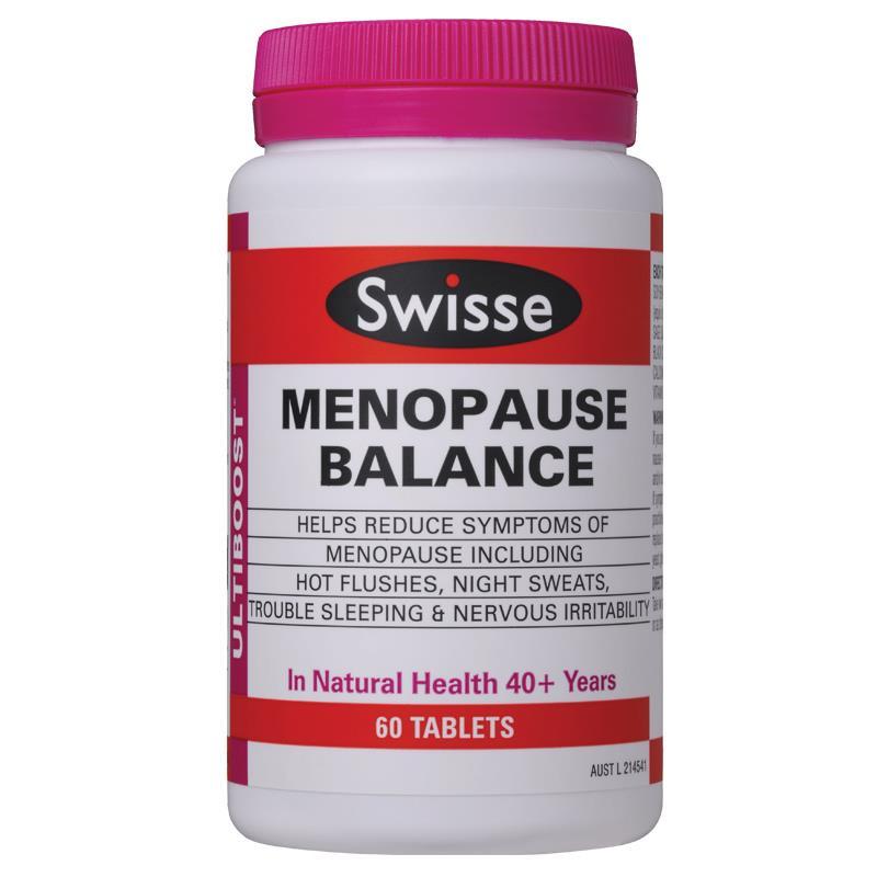 Swisse Menopause Balance 60 viên ( Cân bằng nội tiết tố nữ t...