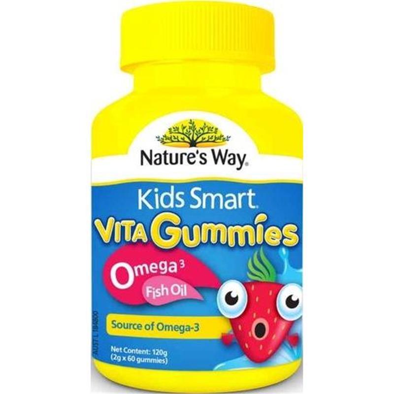 """Nature""""s Way Kids Smart Vita Gummies Omega 3 Fish Oil 60 viên - Bổ sung vitamin và dầu cá omega 3 cho bé"""