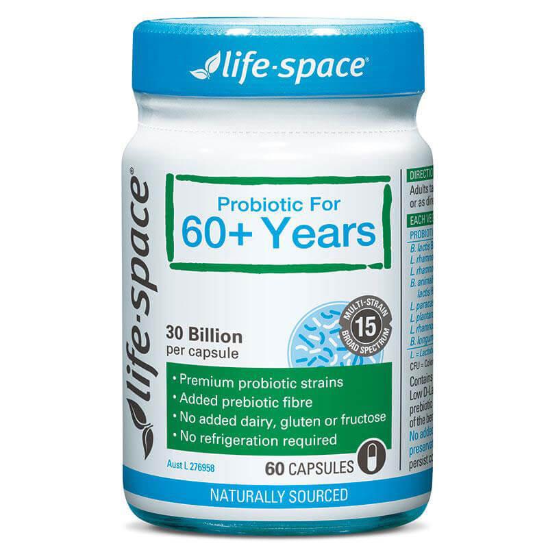 Men vi sinh Úc cho người già - Life Space Probiotic For 60+ Years 60 Capsules
