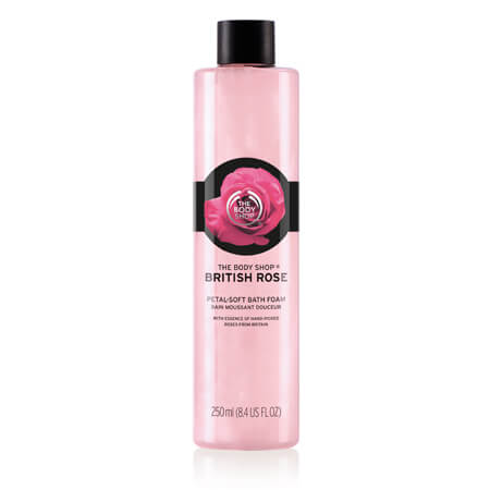 BRITISH ROSE PETAL-SOFT BATH FOAM 250ML